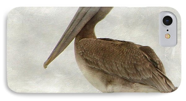 Brown Pelican IPhone Case by Angie Vogel