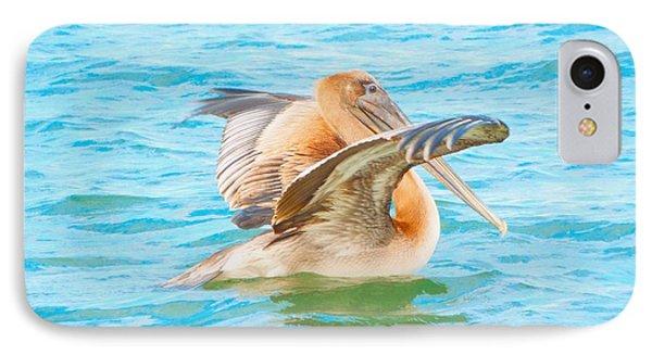 Brown Pelican IPhone Case by Cindy Croal
