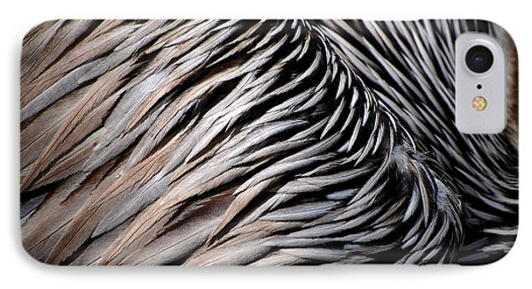 IPhone Case featuring the photograph Brown Pelican Feathers by Lorenzo Cassina