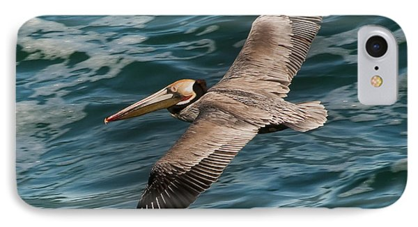 IPhone Case featuring the photograph Brown Pelican Flying 1 by Lee Kirchhevel