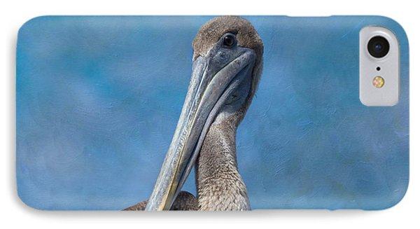 Brown Pelican IPhone Case by Kim Hojnacki