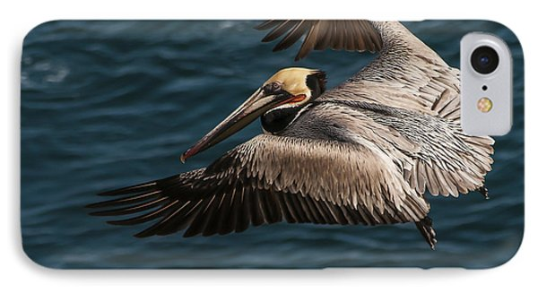 IPhone Case featuring the photograph Brown Pelican Landing by Lee Kirchhevel