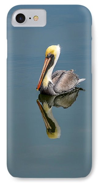 Brown Pelican Reflection IPhone Case