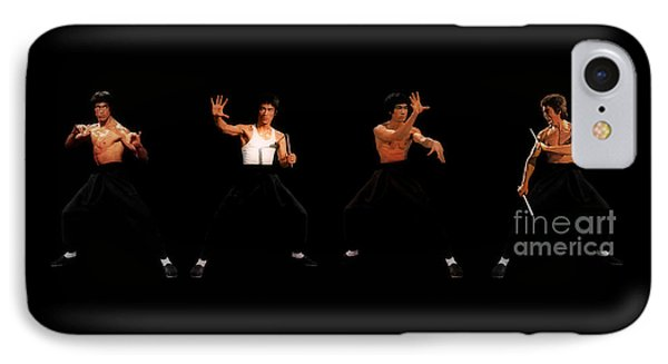 Bruce Lee IPhone Case by Doc Braham