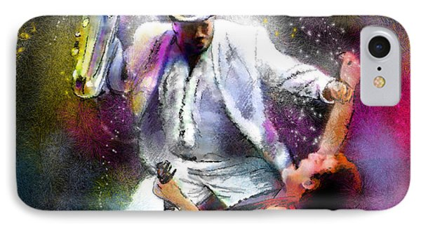 Bruce Springsteen And Clarence Clemons IPhone Case by Miki De Goodaboom