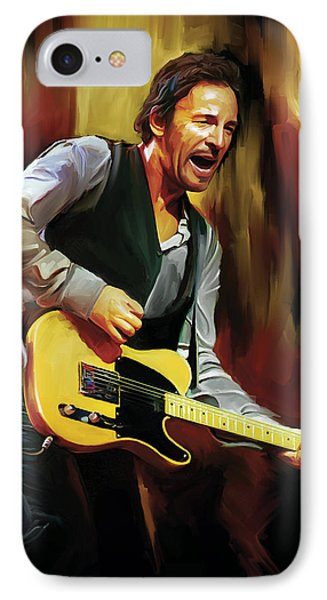 Bruce Springsteen Artwork IPhone Case by Sheraz A