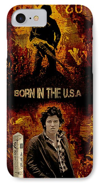 Bruce Springsteen IPhone Case by Dancin Artworks