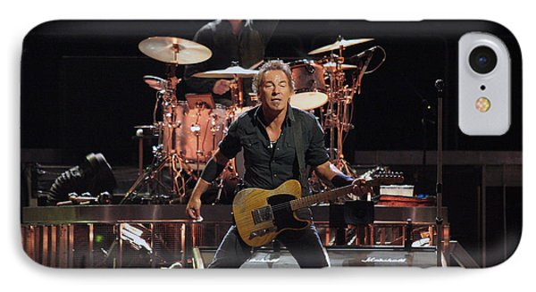 Bruce Springsteen In Concert IPhone Case by Georgia Fowler