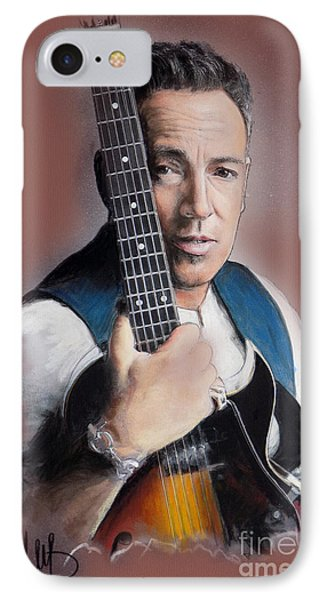 Bruce Springsteen IPhone 7 Case by Melanie D