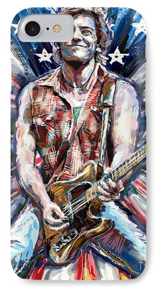 Bruce Springsteen Painting IPhone Case by Ryan Rock Artist