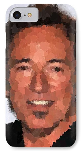 Bruce Springsteen Portrait IPhone Case