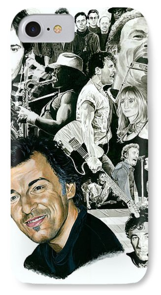 Bruce Springsteen Through The Years IPhone 7 Case by Ken Branch