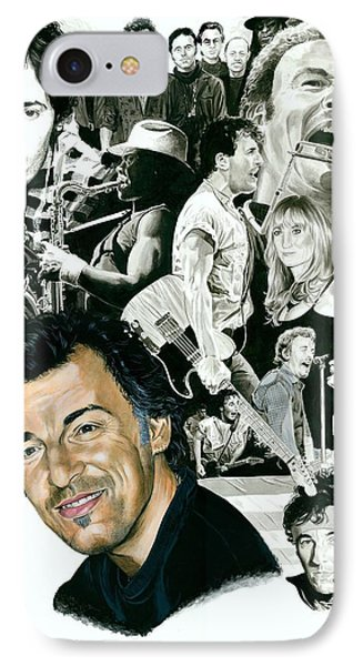 Bruce Springsteen Through The Years Phone Case by Ken Branch