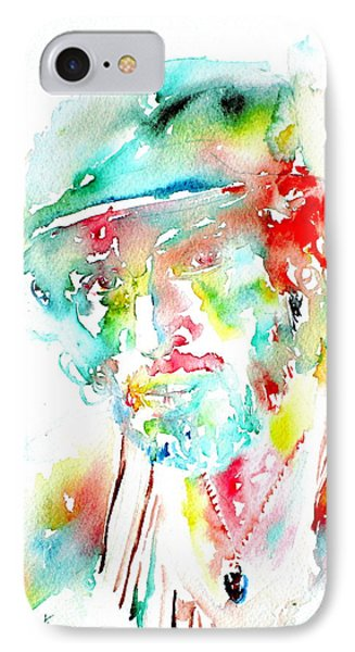 Bruce Springsteen Watercolor Portrait IPhone Case by Fabrizio Cassetta