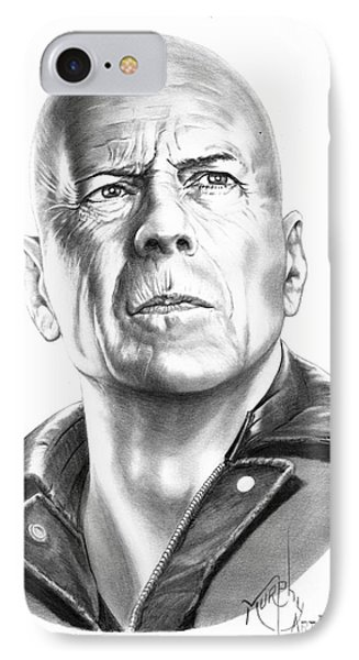Bruce Willis Phone Case by Murphy Elliott