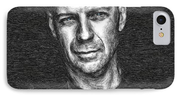 Bruce Willis IPhone Case by Tyler Robbins