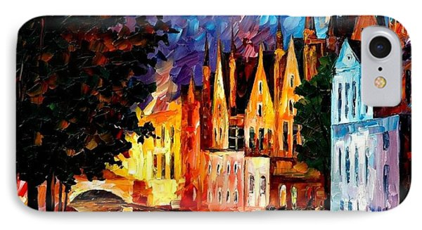 Bruges - Northern Venice IPhone Case by Leonid Afremov