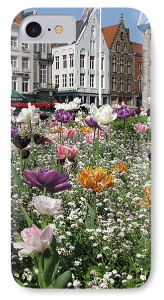 IPhone Case featuring the photograph Brugge In Spring by Ausra Huntington nee Paulauskaite