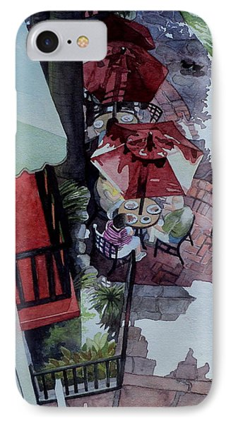 IPhone Case featuring the painting Brunch In San Antonio by Jeffrey S Perrine