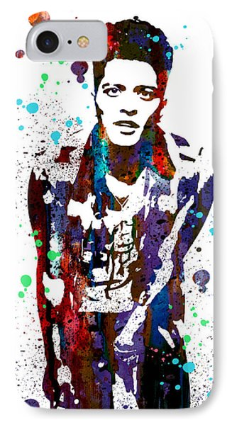 Bruno Mars IPhone Case by Watercolor Girl