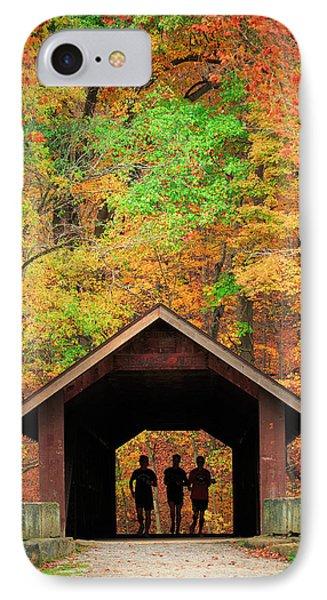 Brush Creek Covered Bridge IPhone Case by Emmanuel Panagiotakis