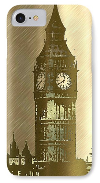 Brush Tone Big Ben Phone Case by Debra     Vatalaro