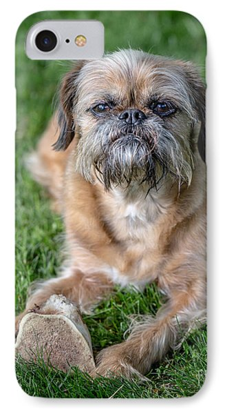 Brussels Griffon IPhone 7 Case by Edward Fielding