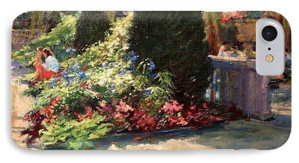 Bryant Park - Morning Light In The Garden IPhone Case