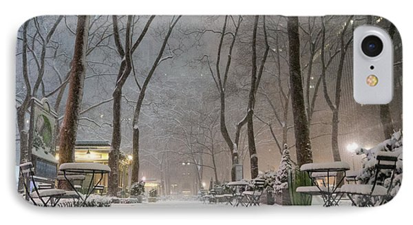 Bryant Park - Winter Snow Wonderland - IPhone Case