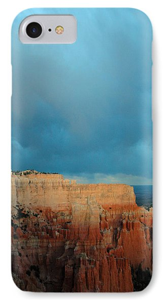 Bryce Canyon And Stormy Sky Phone Case by Bruce Gourley
