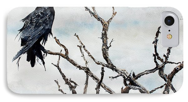 Bryce's Raven IPhone Case by Monte Toon