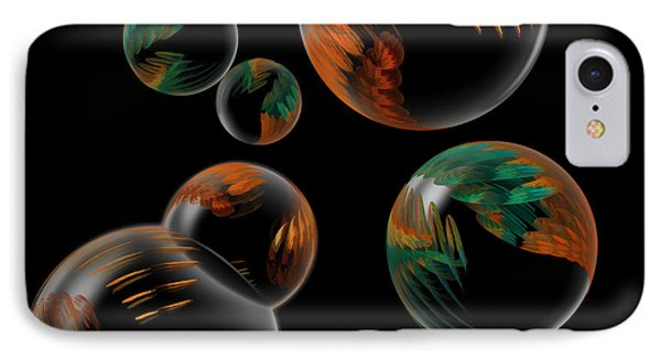IPhone Case featuring the digital art Bubble Farm Fractal by Kathleen Holley