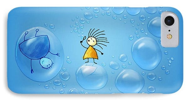 Bubble Folks IPhone Case by Gianfranco Weiss