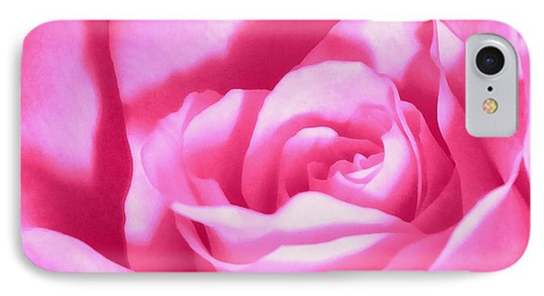 IPhone Case featuring the photograph Bubble Gum Pink Rose by Janine Riley