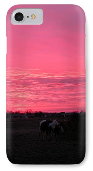 Bubble Gum Sunrise IPhone Case by Carlee Ojeda