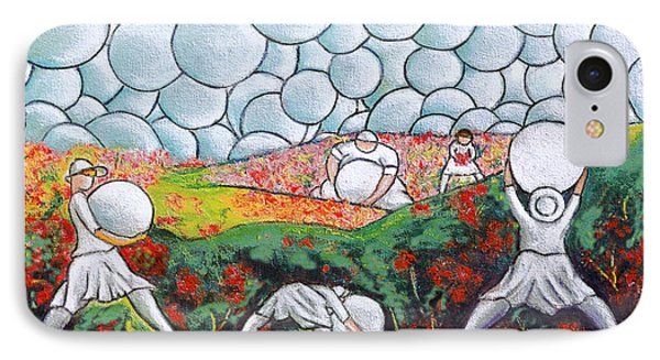 Bubble Sky And Flower Fields IPhone Case