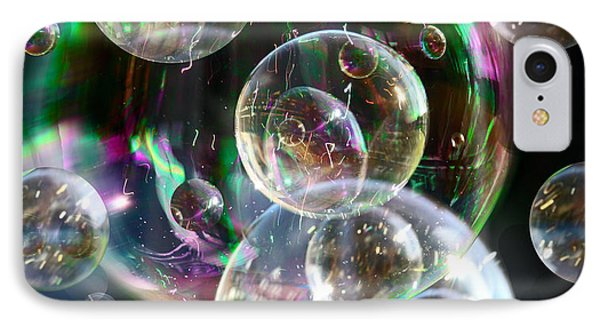 IPhone 7 Case featuring the photograph Bubbles And More Bubbles by Nareeta Martin
