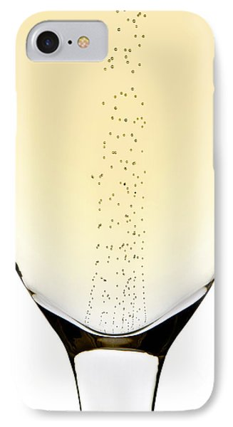 Bubbles In Champagne Phone Case by Johan Swanepoel