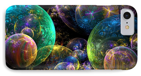 Bubbles Upon Bubbles Phone Case by Peggi Wolfe