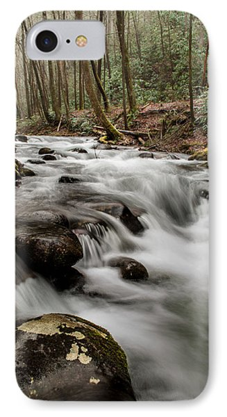 Bubbling Mountain Stream IPhone Case by Debbie Green