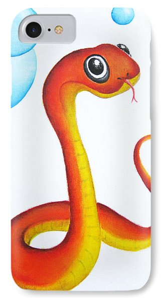 Bubbly Baby Snake Phone Case by Oiyee At Oystudio