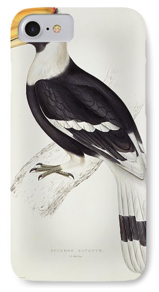 Great Hornbill IPhone 7 Case by John Gould
