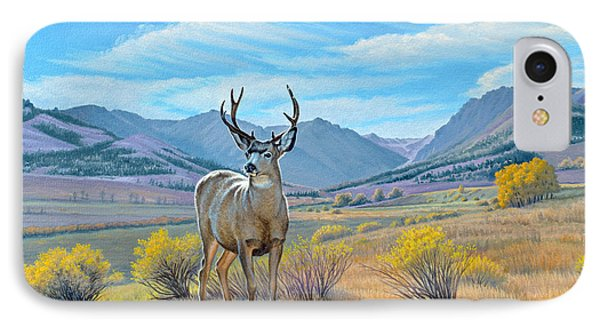 'buck Deer-tom Miner Basin' IPhone Case by Paul Krapf