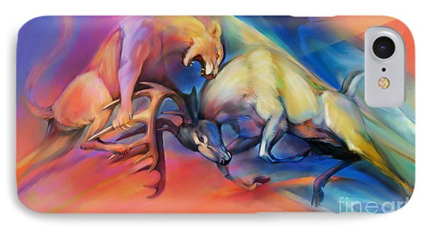 IPhone Case featuring the painting Buck Off by Rob Corsetti