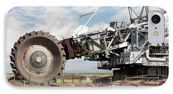 Bucket Wheel Syncrude Upgrader Plant IPhone Case by Ashley Cooper