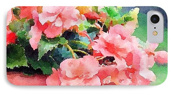Bucket O Begonias IPhone Case by Anna Porter
