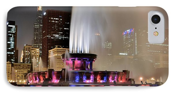 Buckingham Fountain Aglow IPhone Case