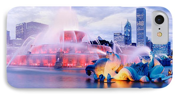 Buckingham Fountain Chicago Il IPhone Case by Panoramic Images