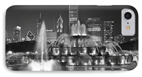 Buckingham Fountain Night Black And White IPhone Case