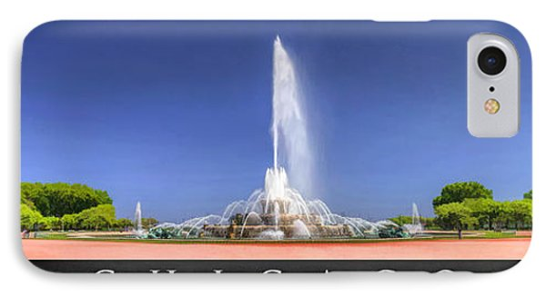 Buckingham Fountain Panorama Poster IPhone Case by Christopher Arndt